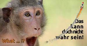 Erstaunter Affee